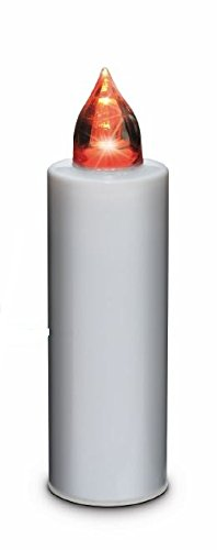 MINI Lumino Bianco a LED effetto fiamma durata 100 giorni - batterie sostituibili - LOCULI CIMITERO