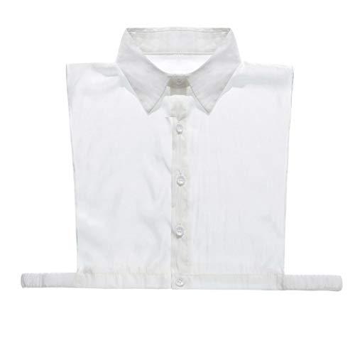 Fenverk Frauen Kragen Abnehmbare HäLfte Shirt Bluse Mit Strass Weiß Damen Kragen/Kragen Abnehmbar Ol Bowknot-Stil/Frauen-Normallack-Kragen DIY