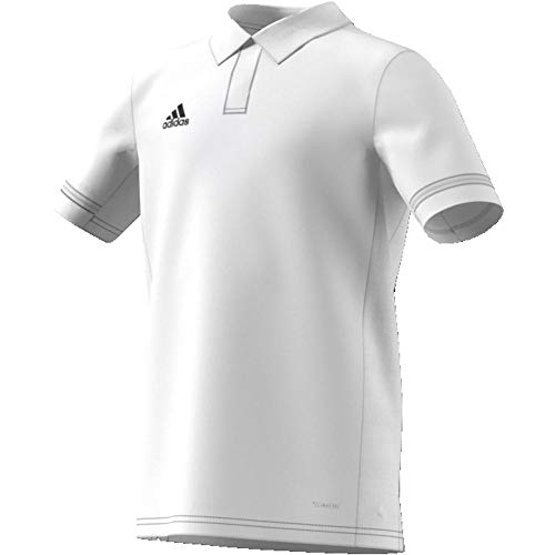 adidas Jungen T19 YB Polo Shirt, White, 13-14 Years -