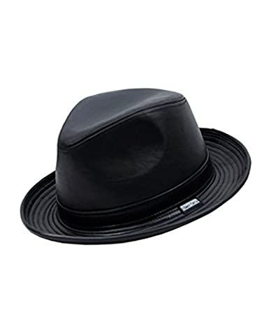 Men's Genuine Leather Fedora Hat Made in