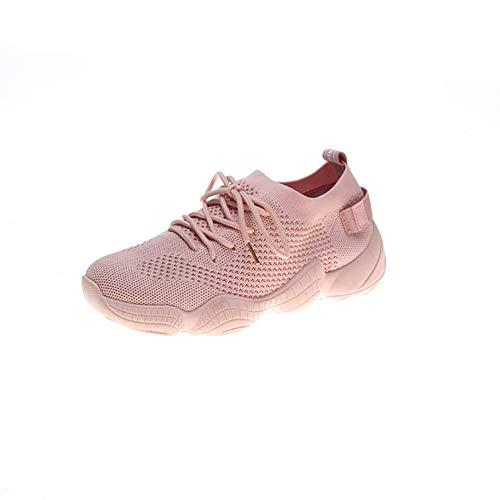 HS-MANWEI Damen Turnschuhe Atmungsaktiv Leicht Lässig Fitness Socken Schuhe Stoßdämpfer Outdoor Running Coach Trainer,40UE