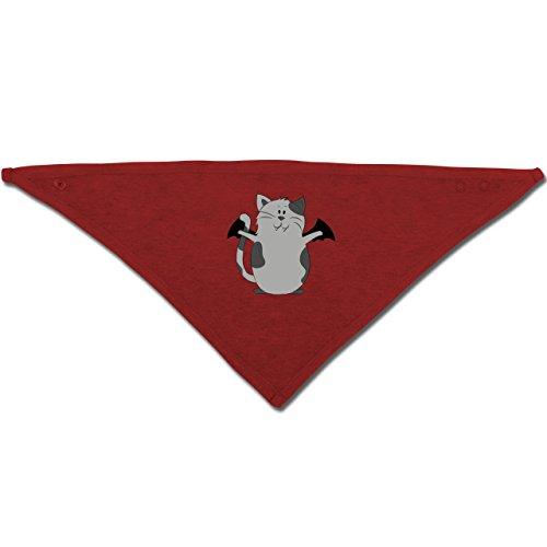 e Halloween - Unisize - Rot - BZ23 - Baby-Halstuch als Geschenk-Idee für Mädchen und Jungen (Halloween-ideen Für Katzen)