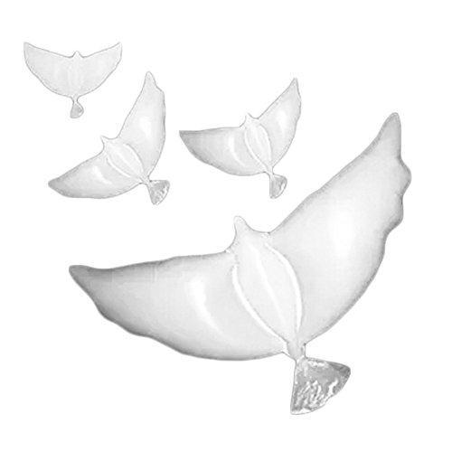 Wakerda Aluminium-Luftballons, weiße Peace-Taube, Hochzeit, Party, Dekoration, Perlglanz, Party-Dekoration, Luftballons für Geburtstage, Partys, Dekorationen