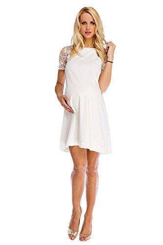 My Tummy Mutterschafts Kleid Umstands Kleid Julia mit Spitze A-Linie Elegant Hochzeit