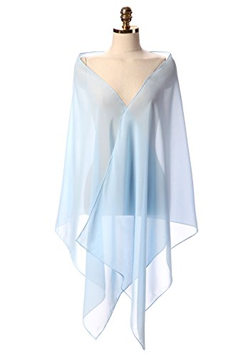 CoCogirls Chiffon Stola Schal für Kleider in verschiedenen Farben zu jedem Brautkleid - Abendkleid, Hochzeit Abend Gala Empfang (One-Size,...
