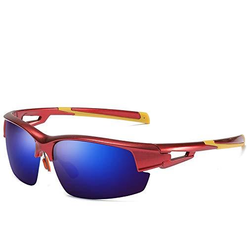 Sport im Freien polarisierte den bunten halben Rahmen der Sonnenbrille, der Code des blauen Rotes der Sonnenbrille reitet
