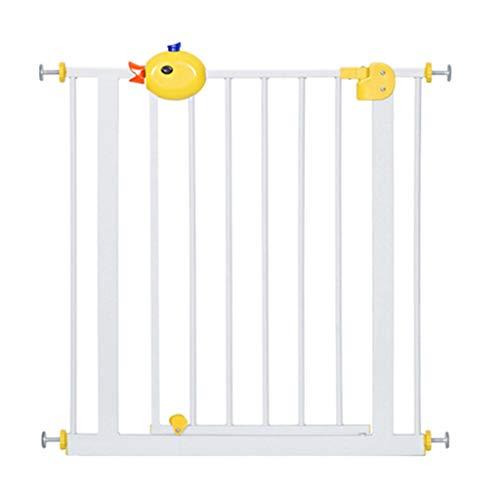 Barrière de sécurité Porte pour bébé avec Porte pour escalier pour Animaux de Compagnie, Porte de Fermeture Automatique de barrière d'escalier, Porte Blanche d'isolation