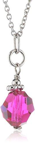 Sakura Pearl Damen Halskette 925 Sterling Silber rhodiniert Kristall 45 cm rot AM 262