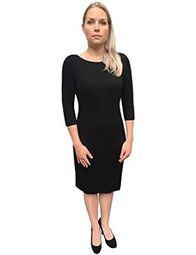 Marc O´Polo Grey Line Damen Kleid Herbst Winter in klassischem schwarz I Damenbekleidung I Businesskleid