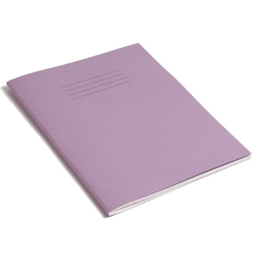 RHINO F8M 9x7 80 Page Exercise Book - Purple (Pack of 10)