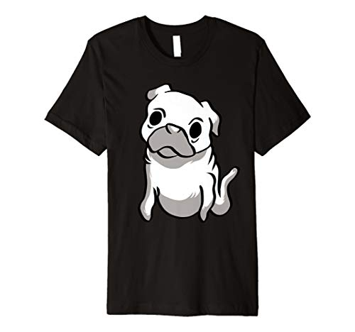Lustiger Mops Geist T-Shirt Süßes Geist Halloween Shirt