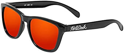 Northweek Regular Shine Black - Red Polarized - Gafas de sol unisex, negro