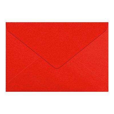 50 Stück // DIN C5 Umschläge, schwere Qualität – sehr Stabil – 110g /qm, 220 x 154 mm, Nassklebung, Spitzklappe, Farbe Leuchtend-Rot // Aus der Serie FarbenFroh von NEUSER!