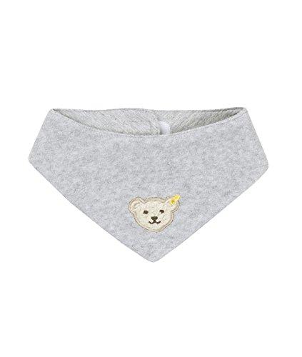 Steiff Unisex - Baby Halstuch 0006854 Nickytuch Länge 38,5 Cm, Einfarbig, Gr. 38 (Herstellergröße: Ii), Grau (Steiff Softgrey Melange 8200)