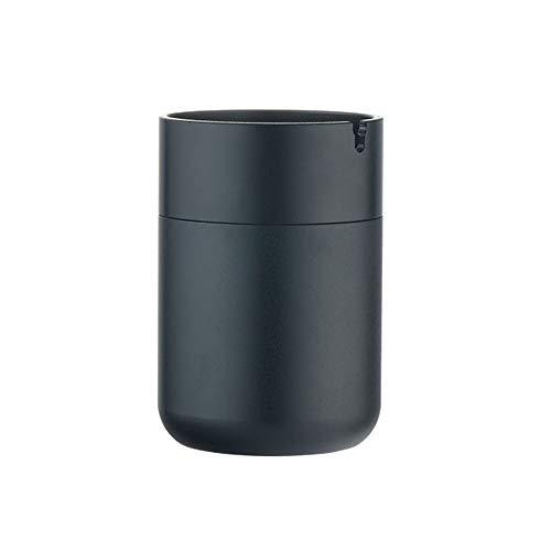 JMM Verdickter Aschenbecher aus oxidiertem Aluminium, Baraschenbecher, blau/schwarz/Gold (Farbe : Black)