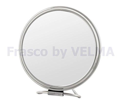 Frasco by VELMA - RS135-5x - Handgefertigter zweiseitiger Reise- Hand- Stand-Kosmetikspiegel...