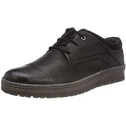 Bugatti 3.21334E+11, Zapatos de Cordones Derby para Hombre, Negro (Schwarz 1000), 44 EU