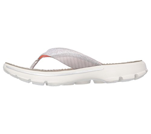 Skechers - Go Walk Nestle, Infradito Donna Taupe