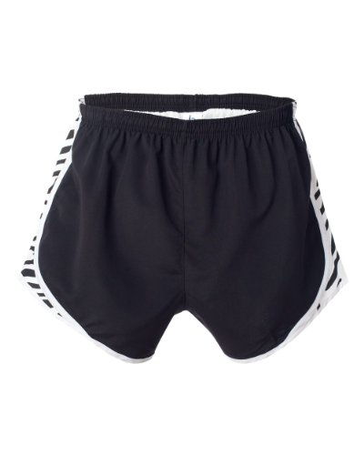 Boxercraft Damen-Neuheit Velocity Running Short Gr. X-Large, Black/White/Zebra (Shorts Zebra Running)