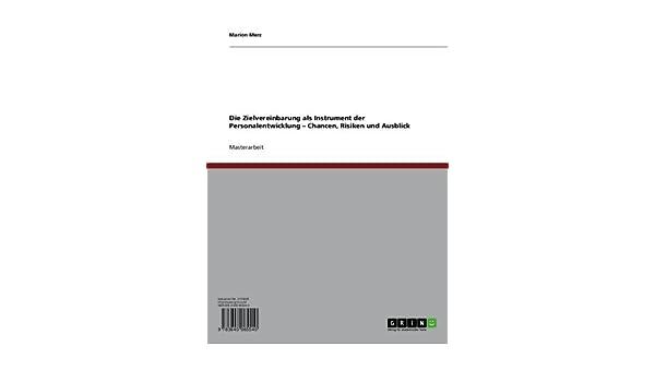 Die Zielvereinbarung Als Instrument Der Personalentwicklung