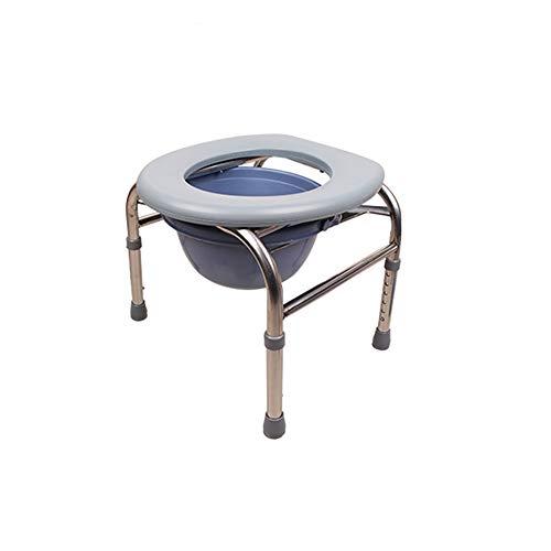 XSJZ Mobiles WC, Höhenverstellbarer WC-Sitz Geeignet für Ältere Frauen Schwangere Frauen WC-Hocker Feste Squat WC-Hocker (Farbe : C)