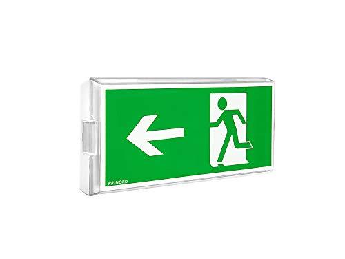 Notleuchte LED Decke Wand Notbeleuchtung Rettungszeichenleuchte Fluchtwegleuchte Notlicht Brandschutzzeichen Rettungszeichen (Not- und Netzbetrieb: Pfeil nach rechts)