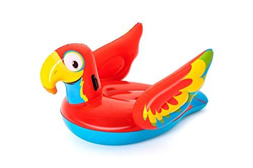 Bestway Papagei 200 x 155 x 109 cm, aufblasbares Schwimmtier mit extra viel Platz