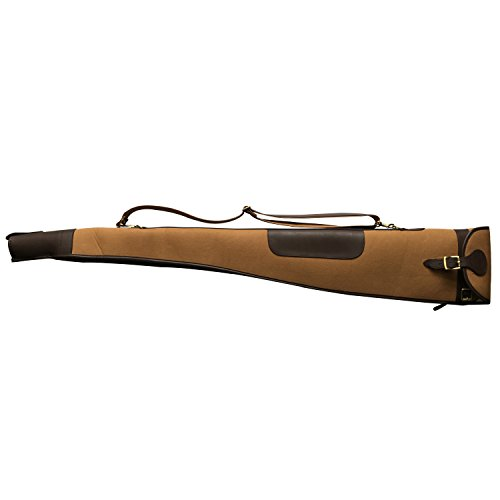 Tourbon Leinwand und Leder Vintage Jagd Gun Tragetasche rutschfest Shotgun Fall 134,6 cm -