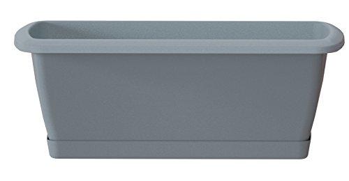 Prosper Plast ise900p-405u 88,5x 18,4x 14,5cm'Espana' Balkon-Set Fall mit Ständer–Stein...