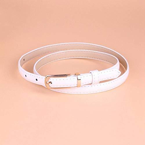 DYCHUN Cintura da Donna Fibbia in Metallo Color Caramella Cintura Casual Sottile per Donna Cintura in Pelle Cinghie Femminili Cinturino per Accessori di Abbigliamento Abito Decor