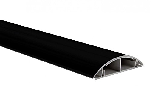 Kabelkanal Design-Kabelkanal selbstklebend versch. Längen, Schwarz matt, Länge:ca. 1.25 m