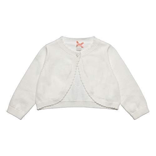 ESPRIT KIDS Baby - Mädchen Sweater Card Ea Strickjacke, per Pack Weiß (Off White 110), 80 (Herstellergröße: 80) - Kinder Sweatshirt Strickjacke