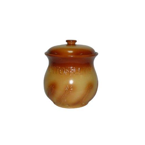 Axentia 820856 Ear of Corn Récipient pour conserver les pommes de terre Motif épi de maïs Diamètre 21,5 cm