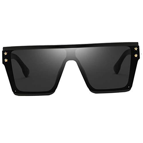 Baoblaze übergroßen Sonnenbrillen Shades Brille, Retro Stil - Schwarz