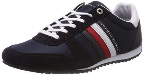 Tommy Hilfiger Herren Essential Nylon Runner Sneaker, Blau (Midnight 403), 44 EU (High-top-mode-schuhe Männer)