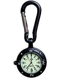 Klox - Orologio da taschino con moschettone e quadrante luminoso, per medici, infermieri, paramedici, cuochi, sport