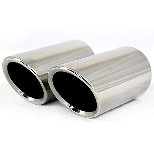 2 Teile/satz 7,6 cm Verchromung Edelstahl Auto Auspuff Schalldämpfer Pipes Abdeckungen