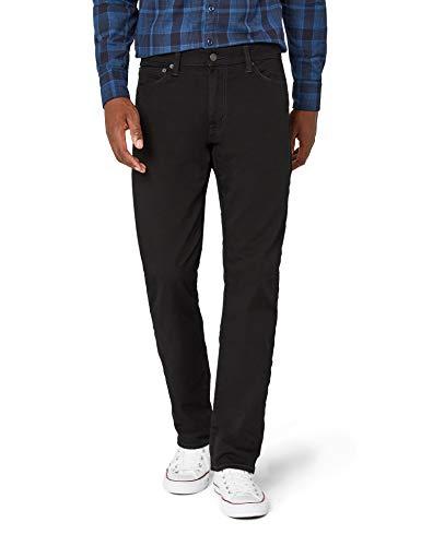 Levi's 504 regular fit, jeans straight uomo, nero (m6854 moonshine 140), w31/l32