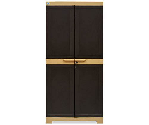 @home by Nilkamal Freedom Mini Medium Cabinet (Weather Brown)