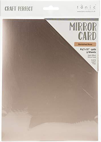 Craft Perfect 9488E Spiegel glänzend CRDSTK RO, brünierte Rose -