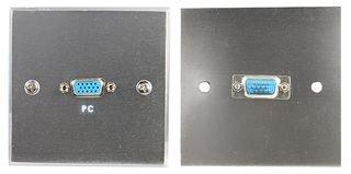WALLPLATE, VGA, SOCKET, STEEL PSG03793 By PRO SIGNAL Vga-steel Wall Plate