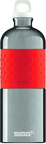 SIGG Color Your Day, Trinkflasche, 1 L, BPA Frei, Aluminium, Rot - Liter Metall-wasser-flasche 1