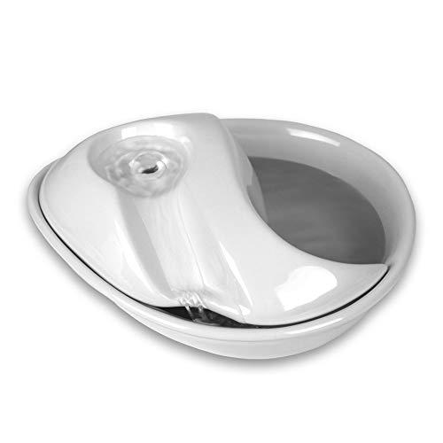 PioneerPet Raindrop Drinking Fountain Trinkbrunnen Keramik weiß 1,8 Liter -