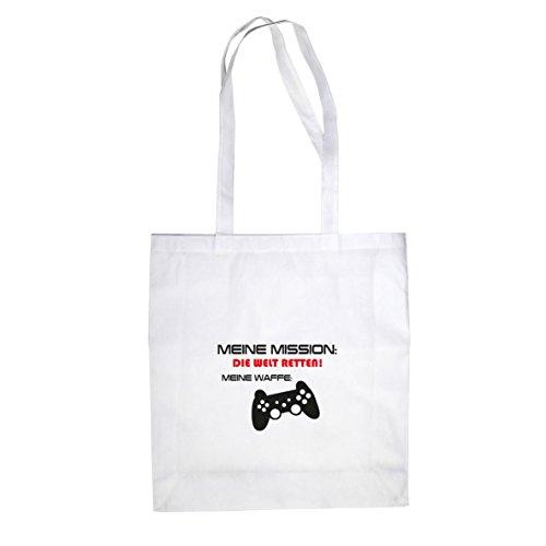 Meine Mission - Stofftasche / Beutel Weiß