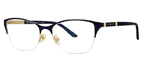 New Versace VE 1218 1342/ Gold Frame Men Women Oval Metal Eyeglasses