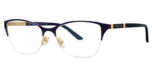 new-versace-ve-1218-1342-gold-frame-men-women-oval-metal-eyeglasses