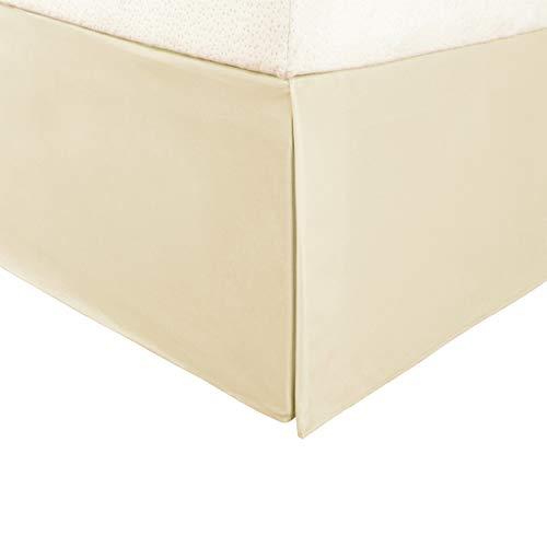 Superior Vanessa Collection 1500 Serie Faltenrock aus 100% Mikrofaser Modern Twin X-Large beige -