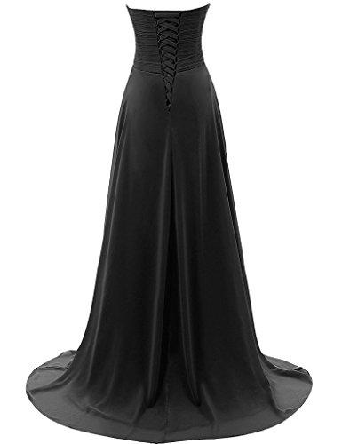 CoutureBridal® Robe Femme Bustier Robe Longue de Soirée Cérémonie Cocktail Chiffon Champagne