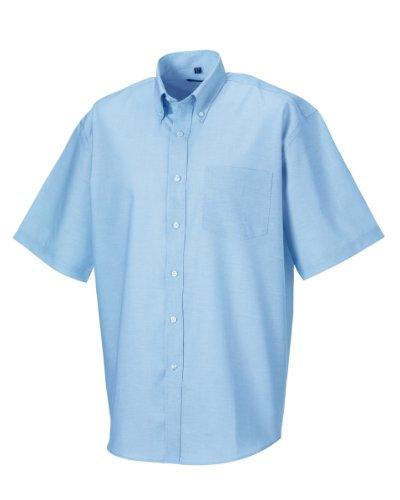 Russell - camicia classica manica corta - uomo (collo 53cm, petto 132-137cm) (azzurro oxford)