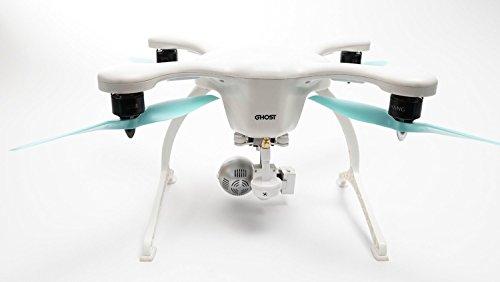Preisvergleich Produktbild EHANG GHOSTDRONE 2.0 VR (iOS) Profi Quaddrocopter Drohne mit Smartphone APP Steuerung und Kamera Live Video Übertragung zur VR Brille, Professionelle Kamera Drohne inkl. 4K Kugel Kamera, hochpräzisem 3-Achsen Gimbal und VR Brille, weiß/blau